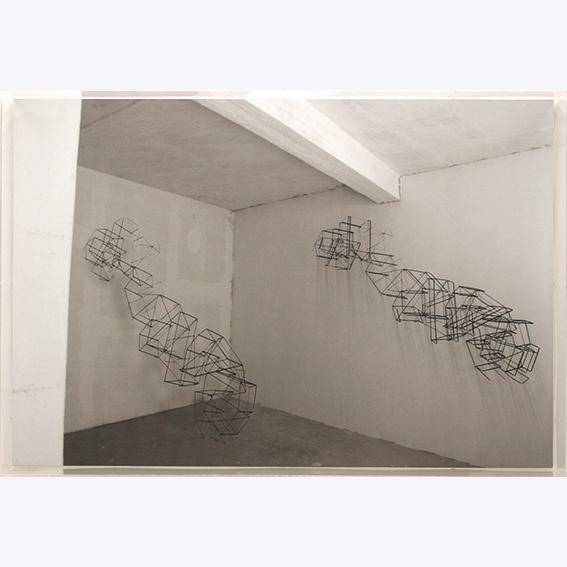 E.Fiorelli- installativo 4 - plexiglass,vinile e filo elastico 2011