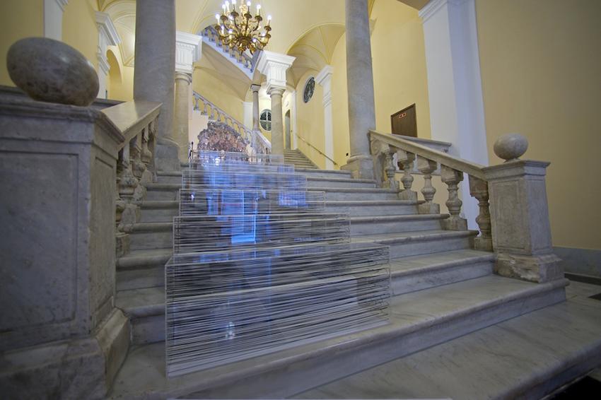E.Fiorelli_install. Scala tonale_Palazzo Spinola_Genova