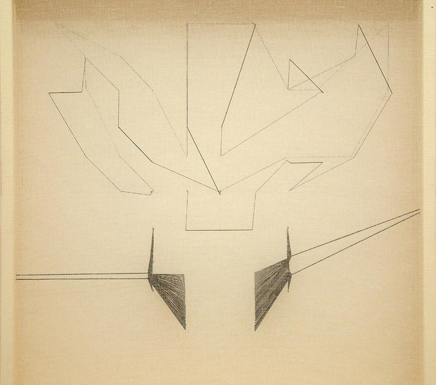 L'oggetto invisibile, 1° premio Acc San Luca-2003, 63x63x8,5
