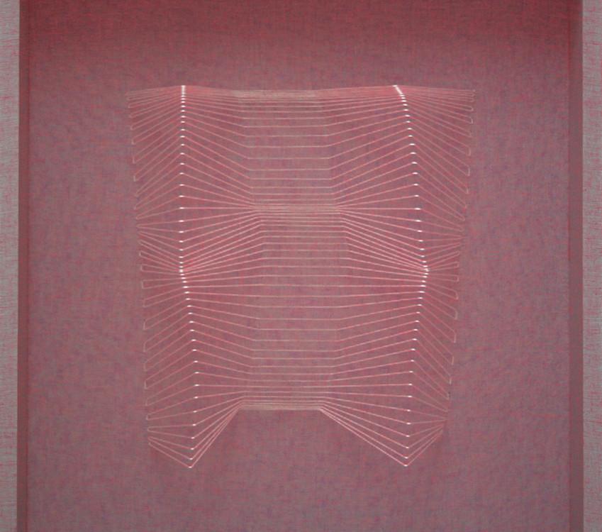 S.T. ,  60x60x9, tarlatane tinte e filo, 2007